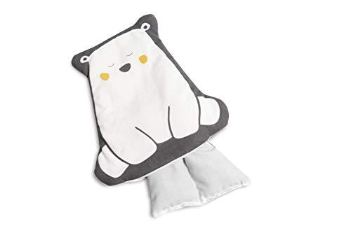 Doomoo Snoogy Bear - Cojín térmico de semillas de colza y lavanda relleno, ayuda a calambres abdominales y relaja con aroma a lavanda - Cojín de semillas para calentar extraíble