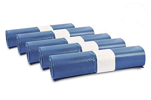 Müllsäcke, 125 St. extra starke blaue Müllbeutel, 120 l Fassungsvermögen, 700 x 1.100 mm, Typ 70 mit 42 my, besonders reißfest, ideal für Garten, Umzüge, Entrümpelungen & Haushalt, 5er Pack