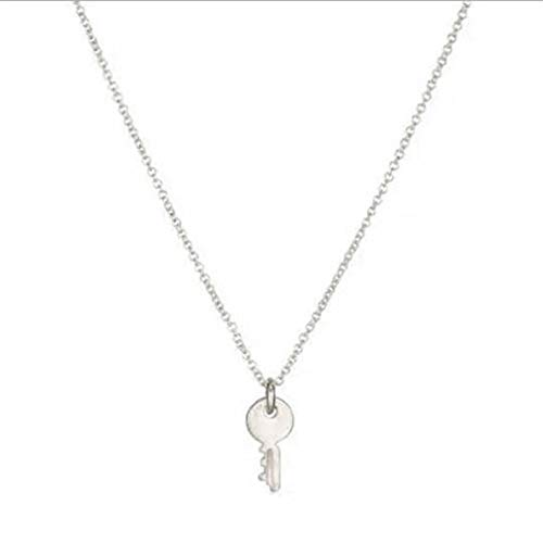 Toporchid Clavicle Chain Necklace for Women Girl Gift(Key silver + card)