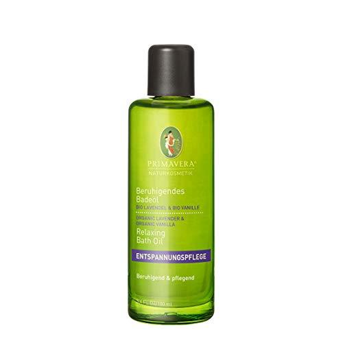 PRIMAVERA Beruhigendes Badeöl Lavendel Vanille 100 ml - Naturkosmetik - entspannend, pflegend, rückfettend - vegan