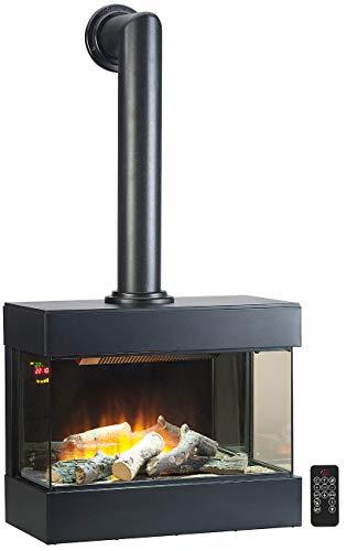 Carlo Milano Kaminofen: Nostalgie-Elektro-Wandkamin mit 3D-Flammeneffekt, 2.000 Watt, 60 cm (Heizkamin)