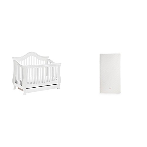 Ashbury 4-in-1 Convertible Crib with Pure Core All-In-One Dry Organic Mattress