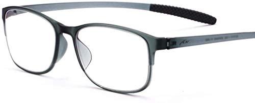 WBMKH Raincoat Reading Glasses,Plastic titanium adhesive Frame Anti-blue light mobile phone glasses Pet waterproof raincoat (Color : Gray, Size : +2.5)
