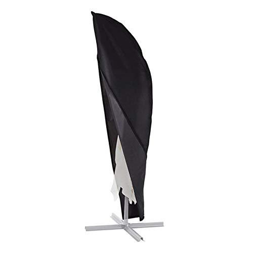F Fellie Cover Ampelschirm Schutzhülle, wasserdichte Sonnenschirmabdeckung, Abdeckhauben für Sonnenschirm Schutzhülle für Ampelschirm, schwarz