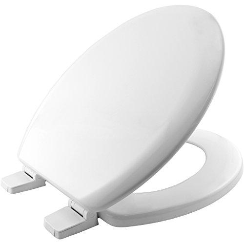Bemis 5000AR000 CHICAGO Formholz WC-Sitz mit Kunststoff Scharnieren, Weiß, 46.6 x 37.8 x 6.2 centimeters