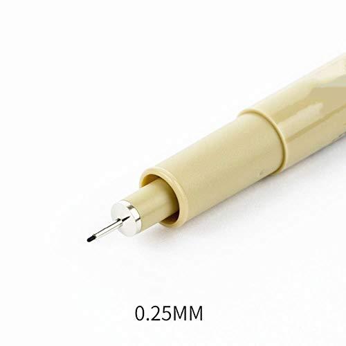 TUOF Markers Set Waterdichte Pen Zachte Glad Penseel Tekenen Schilderen Zwarte Hand-Paint Pen Art Markers Schrijven benodigdheden