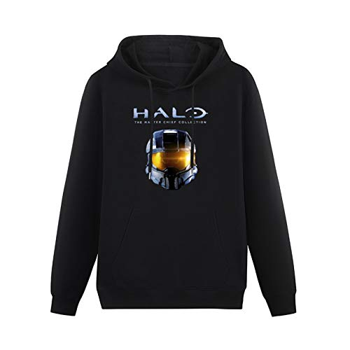 YANZHI Michael Tibbetts Halo The Master Chief Collection Cotton Pullover Long Sleeve Print Hoodie Black Sweatshirts Black S