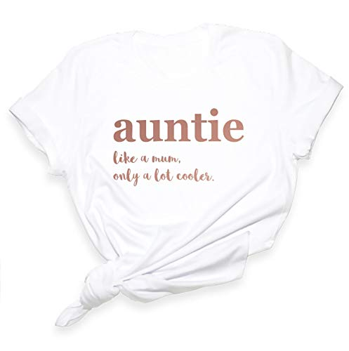 Auntie T-Shirt - Aunt Tshirt Like A Mum Only A Lot Cooler Shirt - Auntie...