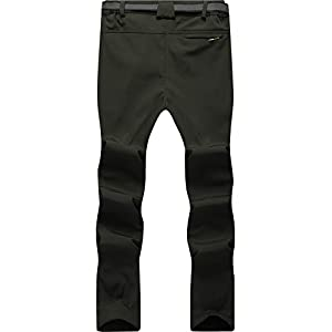 Benboy Mens Snow Ski Outdoor Waterproof Windproof Fleece Cargo Hiking Pants