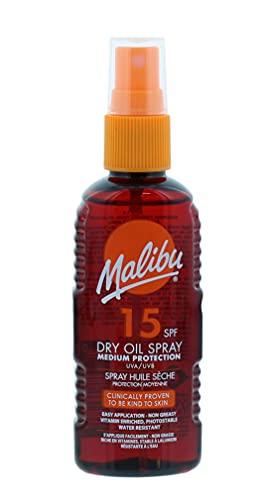 Malibu Medium Protection Water Resistant Non-Greasy Dry Oil Sun Spray SPF...