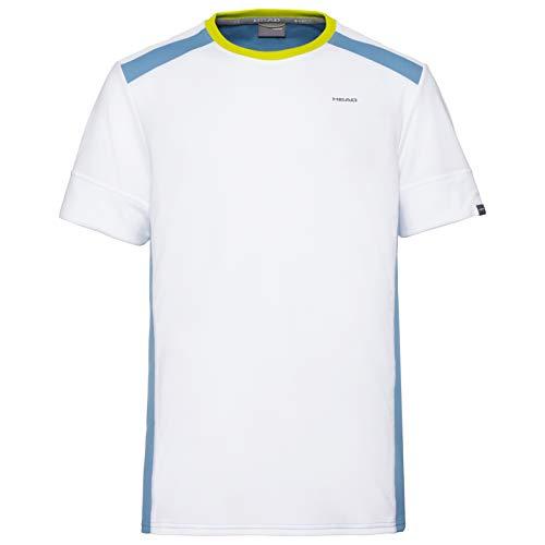 HEAD Herren Uni T-Shirt, White/Sky Blue, XL