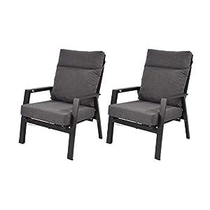 lifestyle4living Gartenbank aus Aluminium, 2-Sitzer, witterungsbeständig, klappbare Rückenlehne | Exklusive…