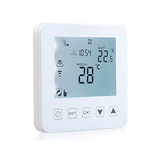 WiFi termostato inteligente, termostato de control de caldera de calefacción eléctrica, con...