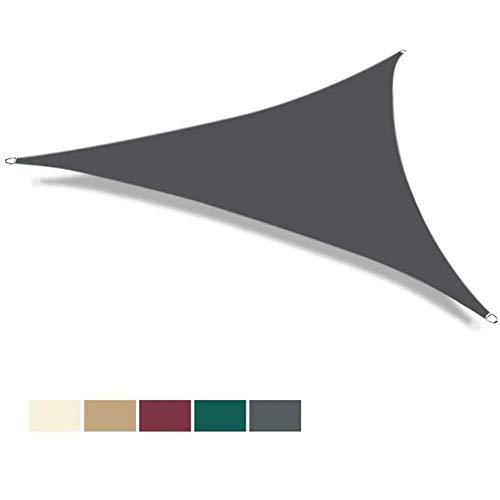 PLEASUR Party zonwering luifel baldakijn driehoek parasol zeil 5x5m waterdicht blok tuinscherm waterdicht luifel baldakijn 5 kleuren voor patio tuin erf pergola buiten
