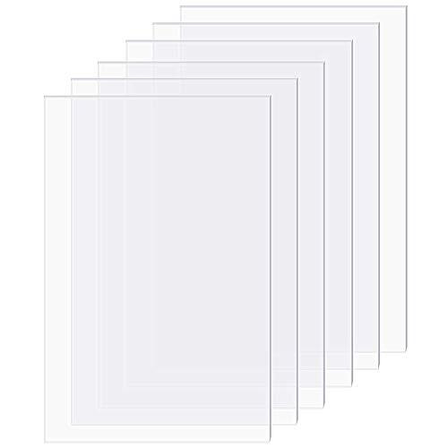 OLYCRAFT 20 Blatt 0.7mm Plexiglas Bilderrahmen Ersatz Transparent Acryl Foto Größe Blatt 6x4 Zoll Glas Klar Schutzfolien Für Fotorahmen Und Projekte Anzeige…