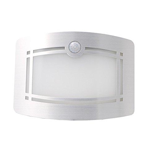 Lamp met bewegingsmelder, nachtlampje, draadloos, werkt op batterijen, bewegingssensor, wandlamp, spot, voor hal, kast, trap, balkon, badkamerverlichting.