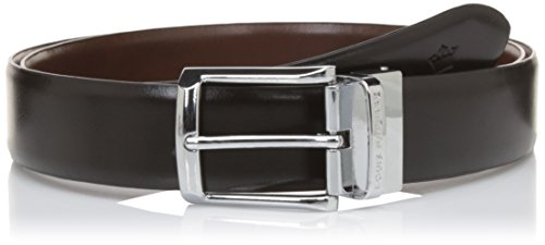 Louis Philippe Men's Belt (LPLL200044_Black/Brown_L)