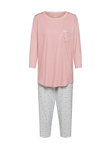 Calida Damen Sweet Dreams 3/4 Pyjamaset Zweiteiliger Schlafanzug, Rose Bud, L