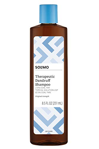 Amazon Brand - Solimo Therapeutic Dandruff Shampoo, Original Strength, 8.5 Fluid Ounce (Pack of 6)