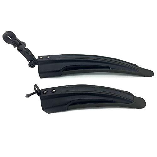 Silfrae Adjustable Standard 26 inch Mountain Bike Splash Guard Bike Fenders Set Front and Rear (Classical Black)