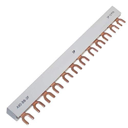 Sammelschiene 3-Phasen 12-polig 10mm² Phasenschiene Kammschiene Gabel 12-Module