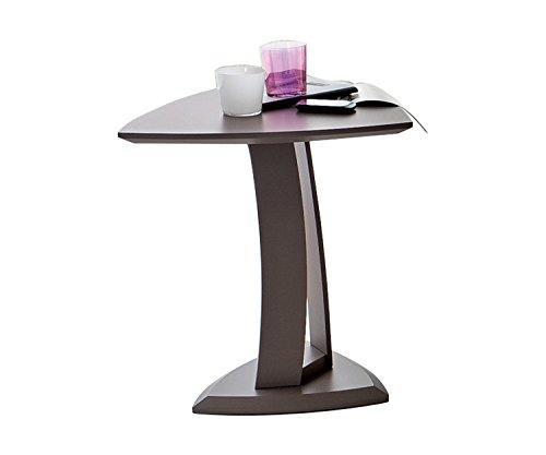 MIT Design Store Tavolino Moderno Accanto Divano Emma Color Tortora - Tavolino Salotto in Legno - Prodotto Italiano