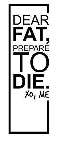 spb87 Lief vet, bereid je voor om te sterven. Xo, Me - Crossfit Decal Motivational Workout Exrcise Sport Fitness Citaten muur vinyl stickers Art Decor DIY