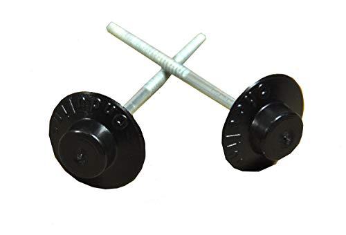 Onduline Nägel mit PVC Kopf schwarz 2,8 x 65 mm mit 18 mm Kopf 100 Stück/Pak