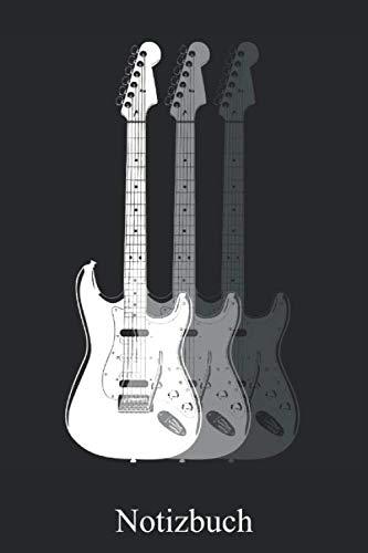 Notizbuch: Elektrische Gitarre Notizheft, Schreibheft, Tagebuch (Taschenbuch ca. DIN A 5 Format Liniert) von JOHN ROMEO: Gitarrenspieler E-Gitarre ... für Frauen, Männer, Kinder Von JOHN ROMEO