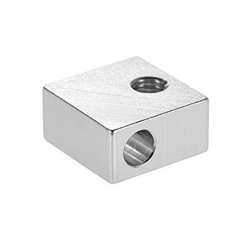 Kshzmoto Aluminium Heizung Block 3D Drucker Heizblock für MK7 MK8 Extruder 3D Drucker Heißes Ende, 1 Stück