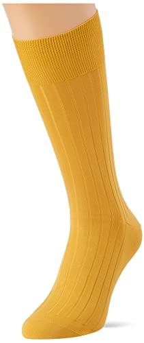 Hackett London Mens SOLID Socks, 099GOLD, ML
