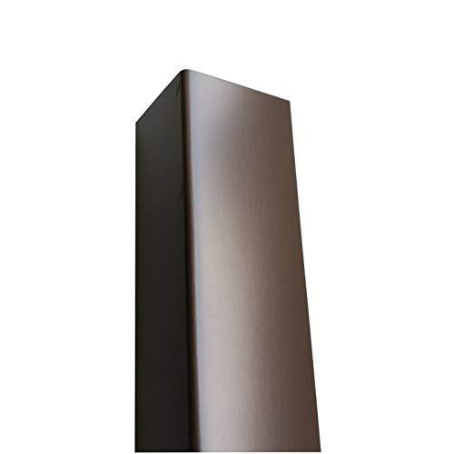 Alu Winkel grau, 1500mm Alu Winkel anthrazit 60x10 mm Schenkelinnenmaß aus Alu Ral7016 Anthrazitgrau 0,8 mm stark DachblechAlu Kantenschutz
