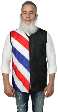 klave design barber vest size M BLACK