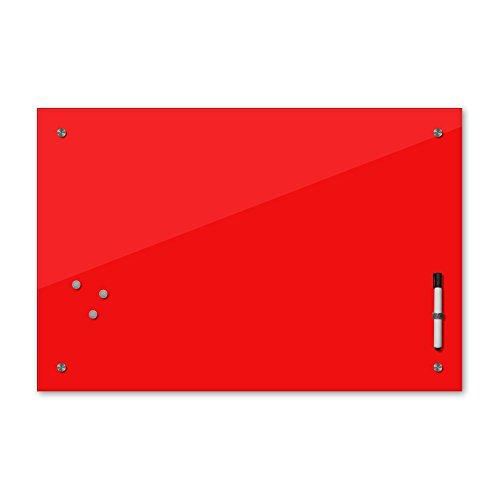 Bilderdepot24 Memoboard 60 x 40 cm, 24 Farben - rot - Glas - Glasboard - Glastafel - Magnetwand - Pinnwand - Mehrzwecktafel Farbton - Grundfarbe - einfarbige Schreibtafel