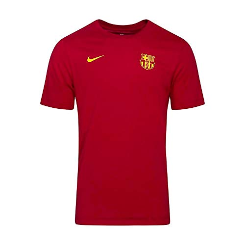 NIKE FC Barcelona Temporada 2020/21-FCB M NK Dry tee Core MATCHCD1224-620 Camiseta de Juego, Unisex, Noble Red, S