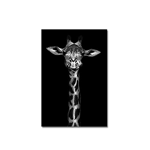Giraffe Print Animal Nordic Canvas Art Painting Black WhiteWall Art Poster Living Room Home Decor Painting 50x70cm No FramePrint on canvas