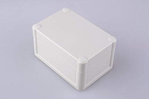 Bahar Enclosure Elektrische Kunstoffgehäuse 102 * 70 * 52 mm Wasserdichte Anschlussdose Weiß Kunststoffbox Junction Box IP68 Waterproof Enclosure Kunststoffgehäuse BWP 10514