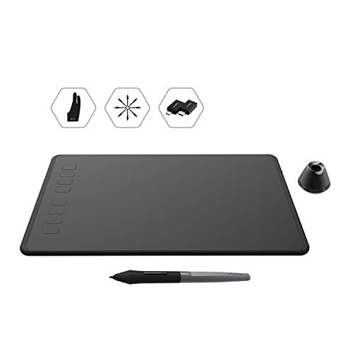 HUION Inspiroy H950P Android Supported Digital Graphics Drawing Tablet with Battery-Free Stylus 8192 Pressure Sensitivity Tilt 8 Express Keys for Art Animation Beginners