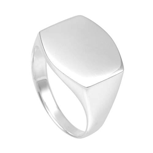 新宿銀の蔵 カーブ 印台 シルバー 925 リング 9〜21号 (9号) 指輪 メンズ アクセサリー シグネットリング スタンプリング シンプル