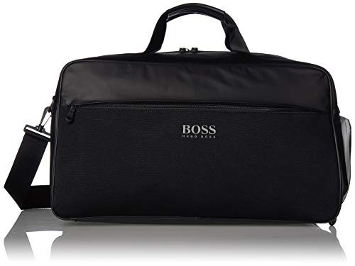 Hugo Boss Herren Lightec Knitted Holdall Weekender Bag Seesack, schwarz, Einheitsgröße