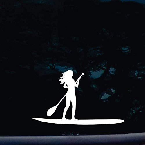 WYJW 2 stuks zwart/wit 20,32 cm Stand Up chick vinyl stickers voor speelgoed, zelfklevend, voor Windows auto's, vrachtwagens, gereedschapskist, zelfklevend, whiteecar Zwart