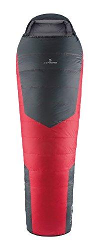 Ferrino Lightec 1200 Duvet Mummy Sleeping Bag, Grey/Red, Large