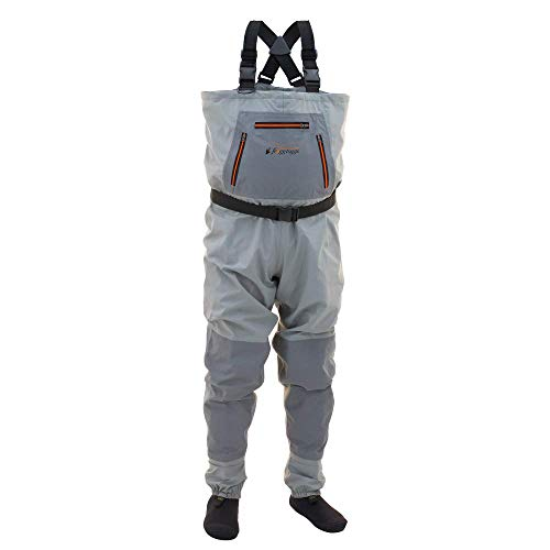 FROGG TOGGS Hellbender Breathable Stockingfoot Chest Wader, Youth, Slate/Gray, Size Medium
