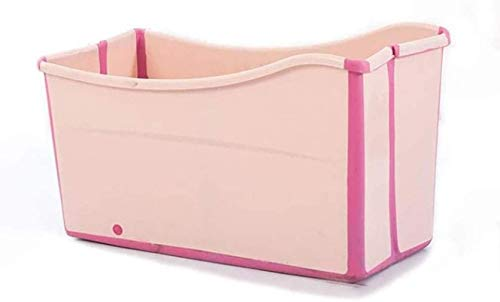 Bañera plegable de Angelhjq, bañera adulta de bebé Bañera adulta, plegable, bañera adulta, bañeras, bañera completa, bañera de niños, plástico, azul / rosa, 12