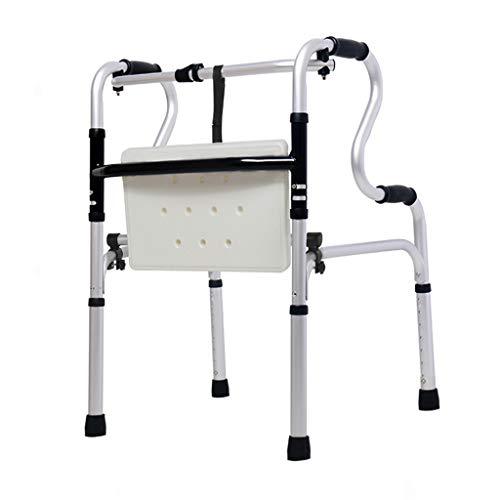 LHNLY-Rollatoren Bariatrischer Schwerlast-Klapp-Walker mit Duschsitz für Senioren - Spaziergänger für Erwachsene - Tragbare Mobilitätshilfe für ältere Personen Höhenverstellbar