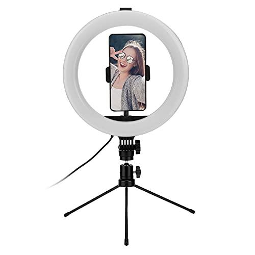 FECAMOS Anillo de luz para Selfies, 26 Tipos de Colores, Modo RGB, luz de Anillo, 192 Piezas, Cuentas de lámpara, Anillo de Escritorio, Kit de luz, Anillo de luz de Relleno para cámara, Video,