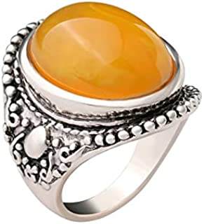 Silver Jewelry, Honey Color Amber Gemstone Ring, Man's Heavy Ring, Oxidized Arabic Ring, Heavy Ring, Two Tone Ring, Design...