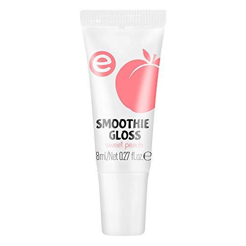 essence smoothie gloss, Lipgloss, Lip Gloss, Nr. 02 sweet peach, pink, scheinend, vegan, entspricht unserem CLEAN BEAUTY Standard, ohne Alkohol (8ml)