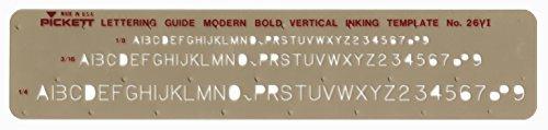 Pickett Isometrische Sechskantmuttern und Köpfe Schablone 12 Moderne Schriftart, fett