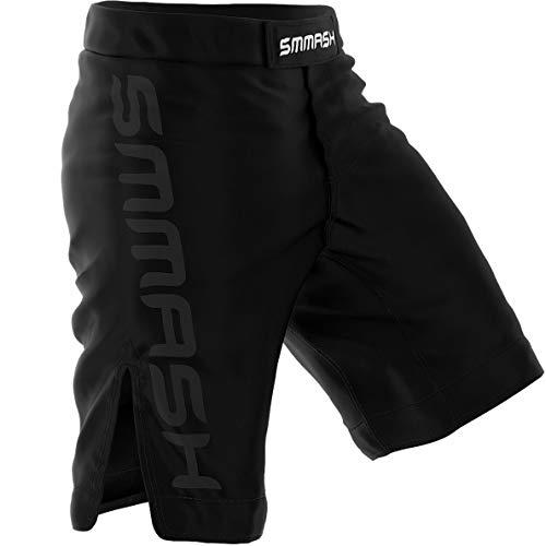 SMMASH Shadow 2.0 Herren-Sportbekleidung, antibakterielles Material, perfekt für MMA, BJJ, Grappling, Krav MAGA, Kickboxen, UFC, Workout-Shorts, (S)